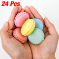 High Quality 24pcs/lot Cute candy Jewelry storage box Mini macaron case for Necklace Earring jewelry organizer Gifts