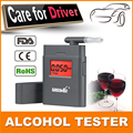 Patent Digital Alcohol Tester with 360 degree rotating mouthpiece breathalyzer alcohol tester remind driver safety in roadway