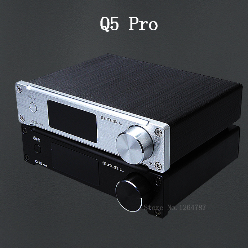 SMSL Q5 Pro HiFi di Alta Qualità 2.0 Puro Digital Home Amplificatore Audio Ingresso Ottico/Coassiale/USB/Power 45 W * 2 Telecomando
