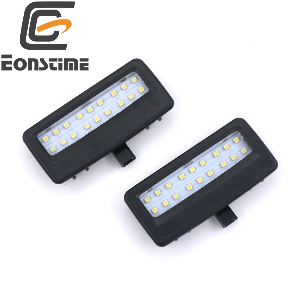 Eonstime 2PCS Error Free 18LED SMD vanity mirror visor light For Bmw 5 Series 7 Series F10 F11 F07 F01 F02 F03 2pcs brand new high quality superb error free 5050 smd 360 degrees led backup reverse light bulbs t15 for jeep grand cherokee