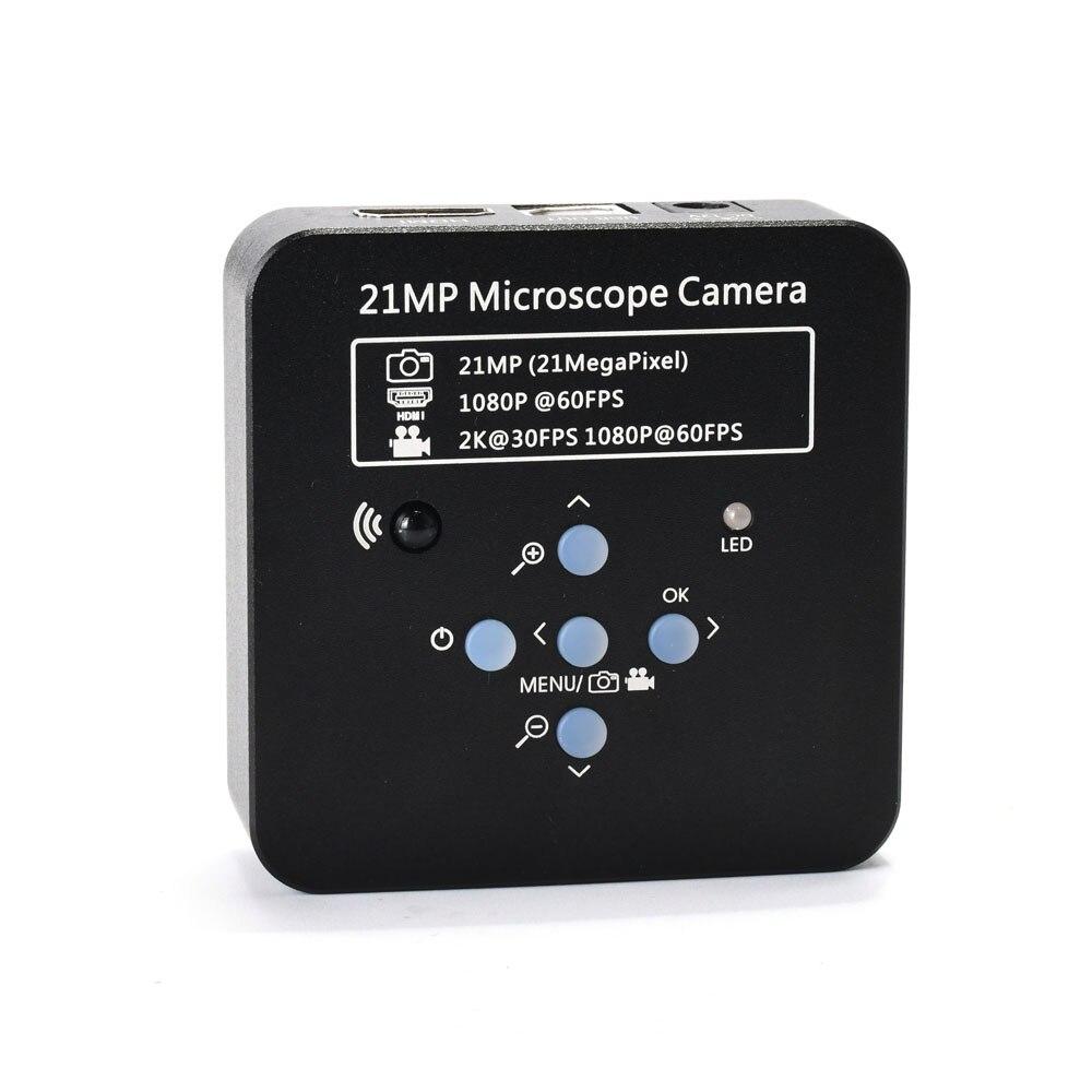 2 K 21MP 1080 P 60FPS HDMI USB Industrielle Numérique Vidéo Caméra Microscope mikroskop kamera Loupe pour Téléphone PCB THT à souder
