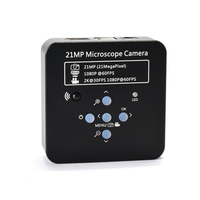 2K  21MP 1080P 60FPS HDMI USB Industrial Digital Video Microscope Camera mikroskop kamera Magnifier for Phone PCB THT Soldering