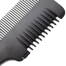 Hair Cutting Comb with Razor Blades