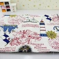 200x150 cm Mer Coton Tissu Tissu Diy Main À Coudre Patchwork Maison Canapé Rideau Nappe Enfants Literie Bébé Poupée sac Textile