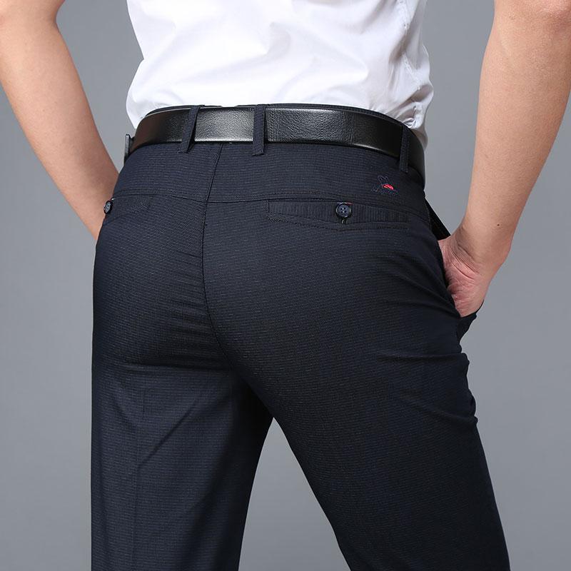 2017 New Design Casual Pants Men Straight Trousers Male Business Men's Pants Cotton Brand Clothing Hombre Plus Size 2017 new plus size 50 brand men designer stretch casual straight leg denim jeans male regular fit cotton business trousers pants