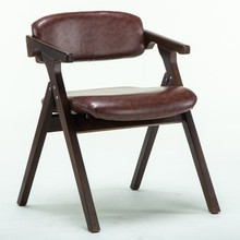 Pu leather chair free shipping folding stools European and American Country House seats brown gray color household chairs