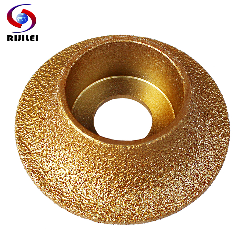 RIJILEI 74mm * 20 * 10-25 Diamonds Brazing Diamonds discs edging marble Angle Grinder Grinding چرخ 1/4 چرخ دستی چرخ دستی MX48