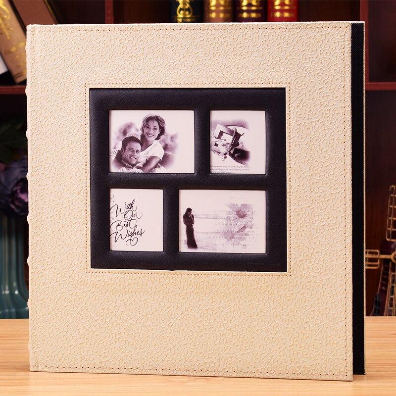 For 6 Inch Photos Plastic Cortex Album Big 400 4R Album This Album Album Home Page Type Leather Cover