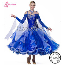 2017 New Arrival Royal Blue Ballroom Waltz Dancing Dresses For Woman B-13403