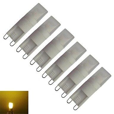 6 piezas G9 LED 220 V 1 W 80lm cálido Blanco/blanco LED lámpara bombilla G9 220 V para iluminación del hogar