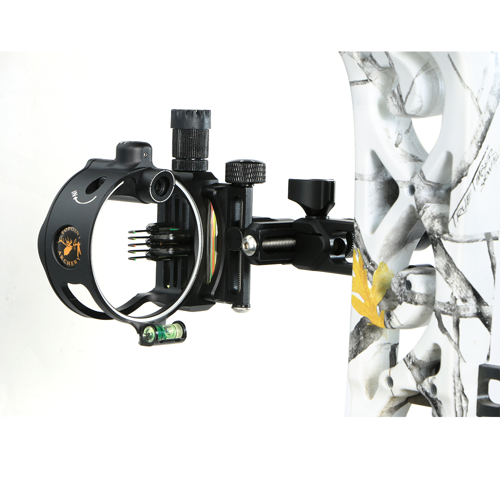 5Pin Archery Sight DB9150 Retina Micro Adjust Optical Fiber 0.019 for Compound Bow