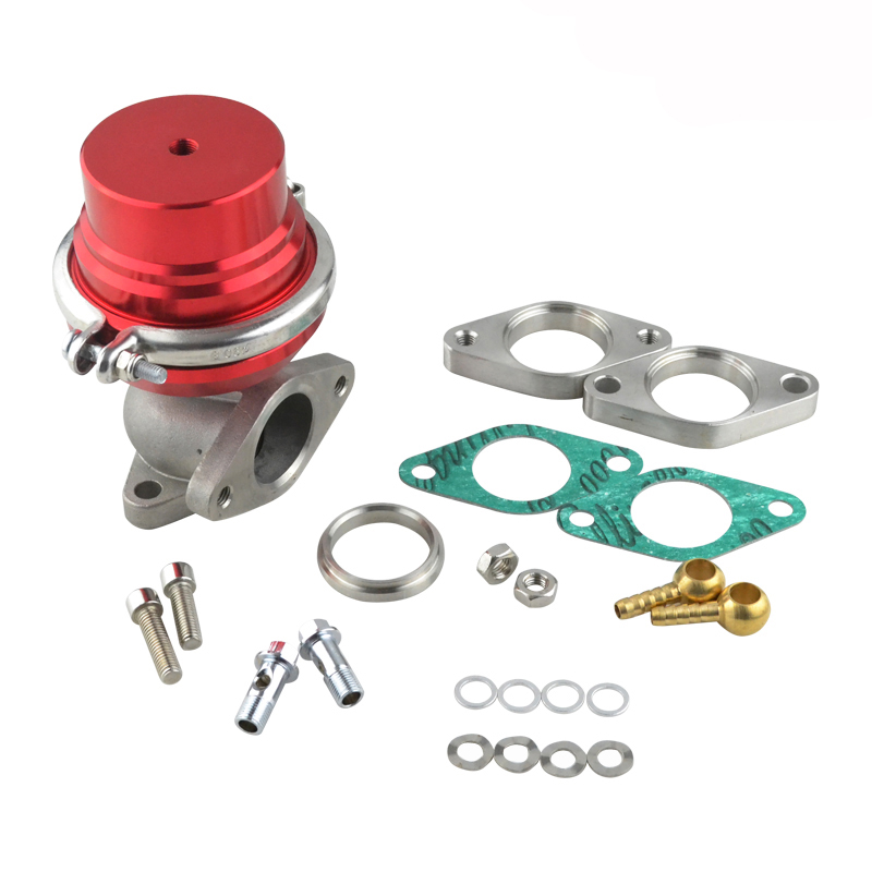 38mm Wastegate Turbo External Red Universal With Clamp High Performance Turbo External Waste Gate With Flange