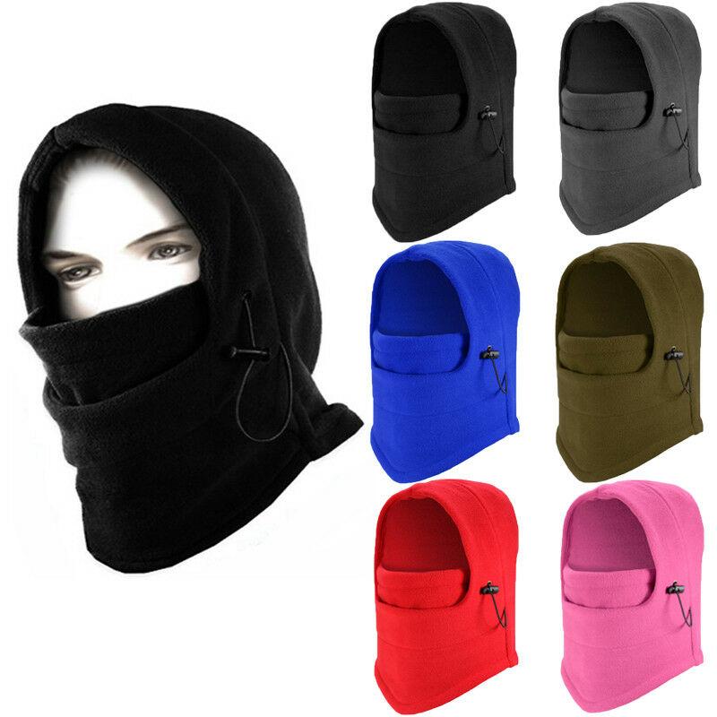 Men Women Winter Warm Balaclava Hat Ski Neck Face Mask Hood Cap Protective Mask Warm Helmet Warmth Polar Fleece Fabric Mask