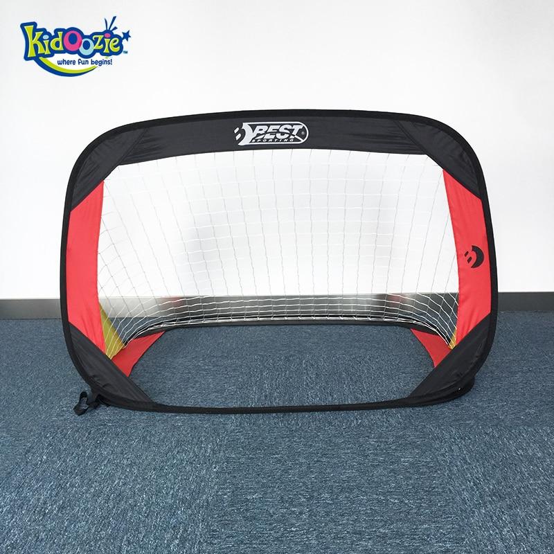 Kidoozie 120*80*80cm Portable Folding Children Football Goal Door Set Soccer Gate Outdoor Sports Toys Kids Soccer Door Gift