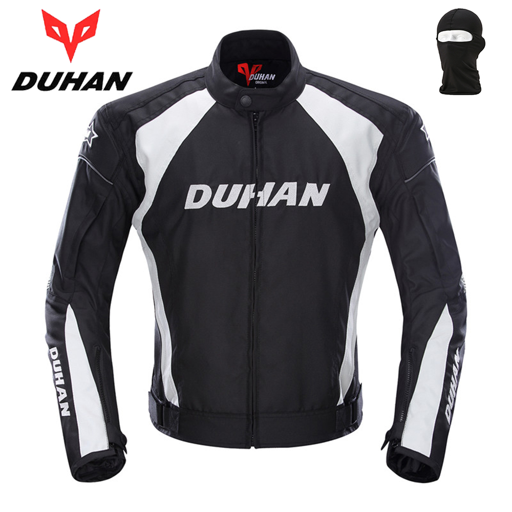 DUHAN Motorcycle Jacket Racing Sports Jacket Clothing with Five Protector Breathable Waterproof and Windproof Laminated Fabric top good motorcycles mesh fabric jacket summer wear breathable hard protective overalls motorcycle clothing wy f607 green
