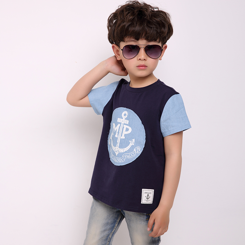 New 2016 boys short sleeve t shirt letters print clothing for Boys short sleeve t shirts