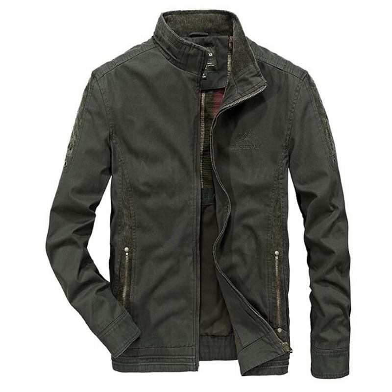봄 재킷 남성 군사 재킷 남성 데님 재킷 jaqueta masculina 캐주얼 스탠드 칼라 포켓 느슨한 남성 외투 아저씨
