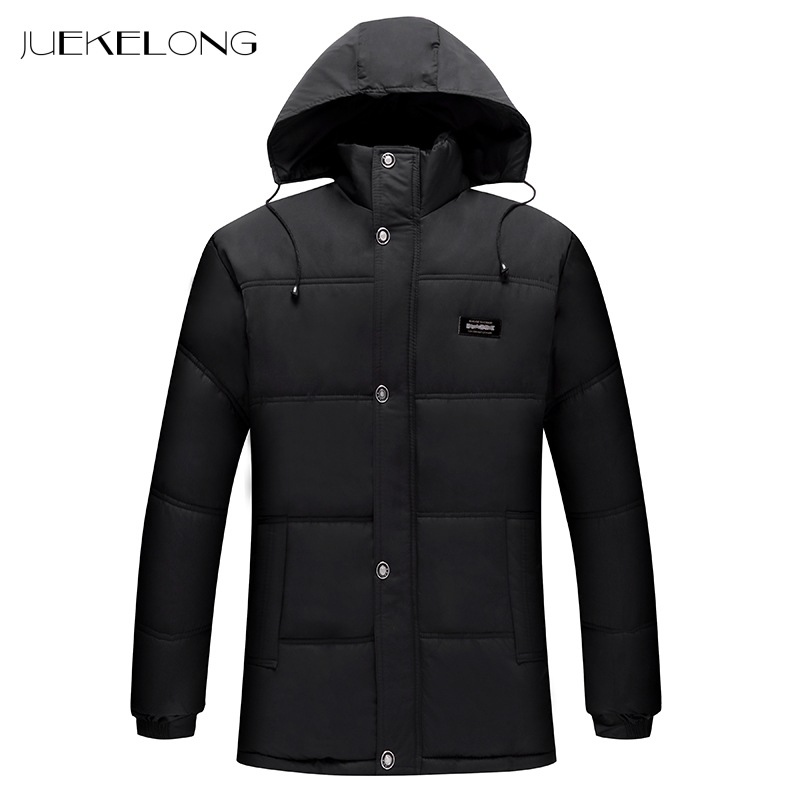 2018 New Men Parka Men Cotton Padded Long Thick Warm Padded Parka Winter Polyester Coat Thick Parkas With Raccoon Fur Collar