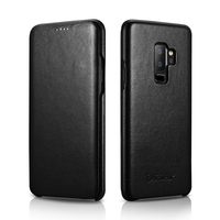 ICARER Case For Samsung Galaxy S9 S9 Plus Luxury Genuine Leather Flip Case Cover For Samsung