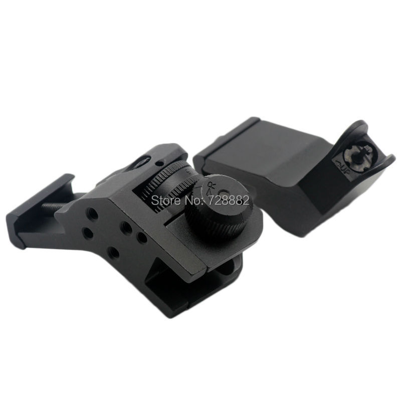 ФОТО Tactical BUIS Backup Front Rear Flip Up 45 Degree Offset Rapid Transition Iron Sight Hunting Accessories