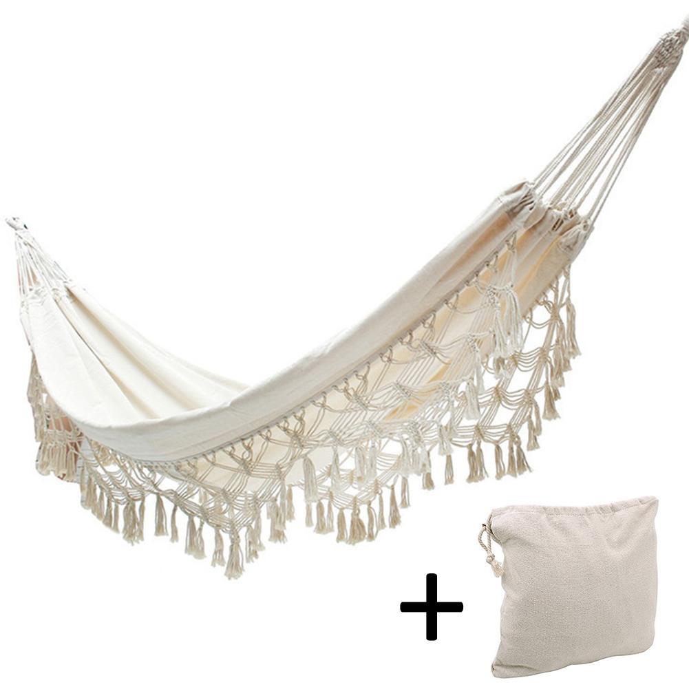 Extérieur Camping hamac balançoire Portable chaise suspendue blanc pur dentelle romantique pour voyage randonnée jardin sommeil balançoire Por