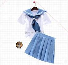Статистика ла убийство мако Mankanshoku косплей костюм аниме потому платье костюм ( топ + юбка ) школьная форма лето девушки женщин короткое платье