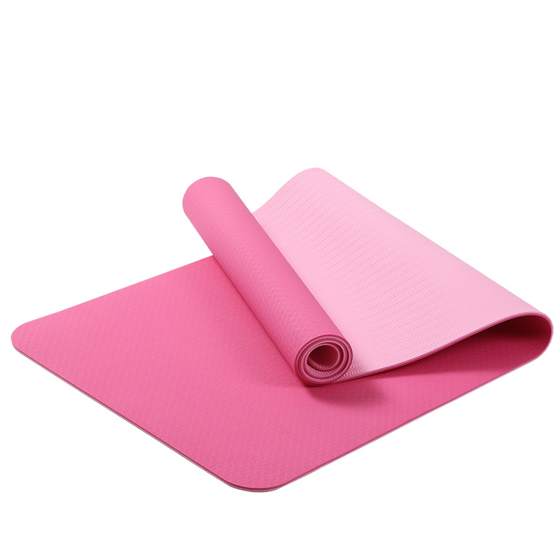 6mm Tpe Yoga Mat Exercise Pad Thick Non Slip Folding Gym Mattress Fitness Pilates Supplies Skid Floor Play In From Home Garden On