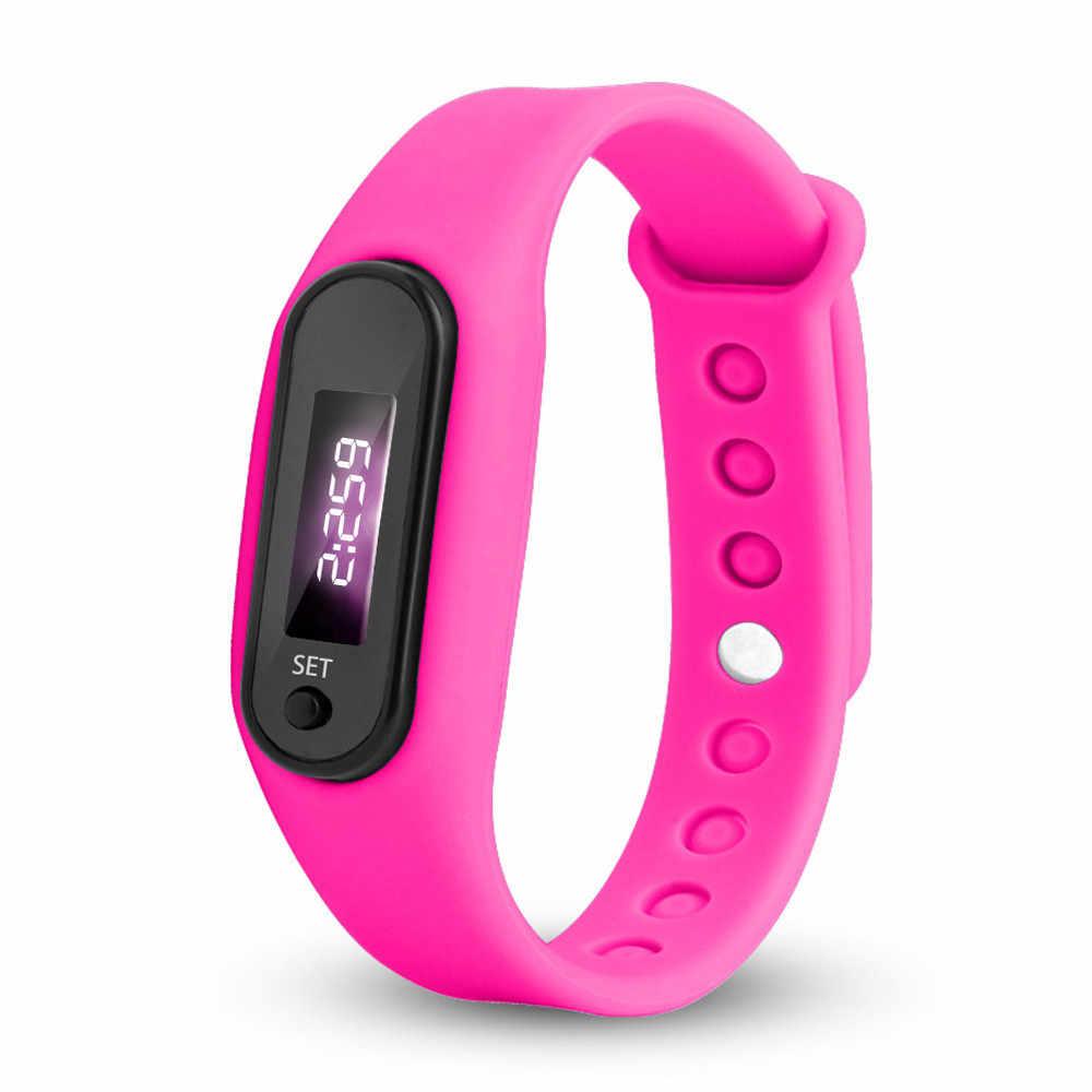 Цифровой ЖК-дисплей шагомерный шагомер шаговый счетчик калорий наручные женские и мужские спортивные фитнес часы браслет