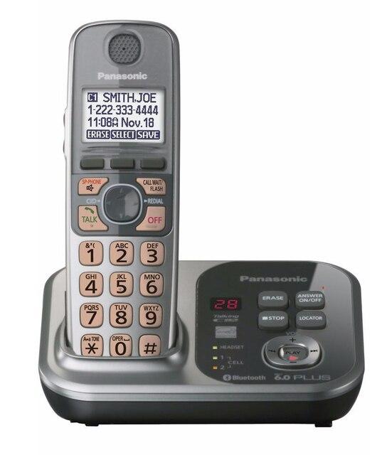 1 Aparelhos KX-TG7731S 1.9 GHz Digital telefone sem fio DECT 6.0 Link para Celular via Bluetooth sistema de Telefone Sem Fio com Secretária Eletrônica