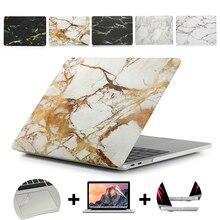 Чехол для ноутбука с мраморной текстурой для MacBook 11Air 13Pro retina для Apple macbook New Pro с сенсорной панелью 13 15 мраморная защитная оболочка