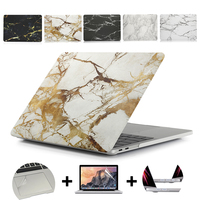 Marble Texture Laptop Case For MacBook 11Air 13Pro Retina for Apple macbook New Pro with Touch Bar 13 15 marble protective shell|Laptop Bags & Cases| |  -