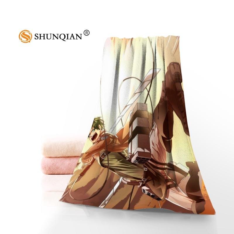Custom Attack On Titan 35x75cm 70x140cm Towels Facecloth Bath Towel Bamboo Fiber Washcloth Quick drying Sports Towel