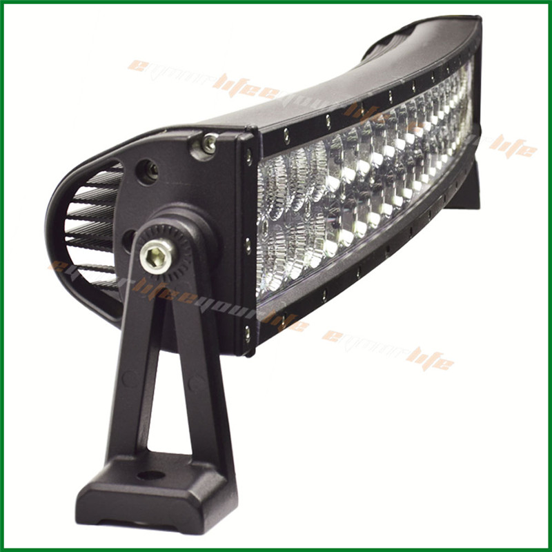 Eyourlife 144W 26/28INCH 10080LM Alloy Spot Flood Combo Curved LED Bar Driving Light Lamp Off Road 4WD 4X4 Boat  UTE SUV 12/ 24V new arrivals 20 inch 128led car work light 4 rows 384w led bar combo off road driving lamp