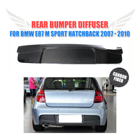 Углеродного волокна заднего бампера для губ Диффузор для BMW E87 M Спорт хэтчбек 2007 2010 одной выхлопной двойной выход автомобиля стиль