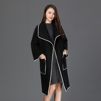 Danjeaner Brand Design Winter Coat Women Warm Cotton padded Wool Coat Long Women's Cashmere Coat European Fashion Jacket Outwear