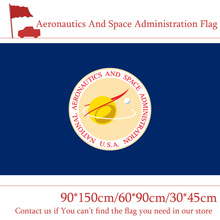 Free shipping 90*150cm American Aeronautics And Space Administration Flag 30*45cm Car Decoration 60*90cm 3x5ft Hanging