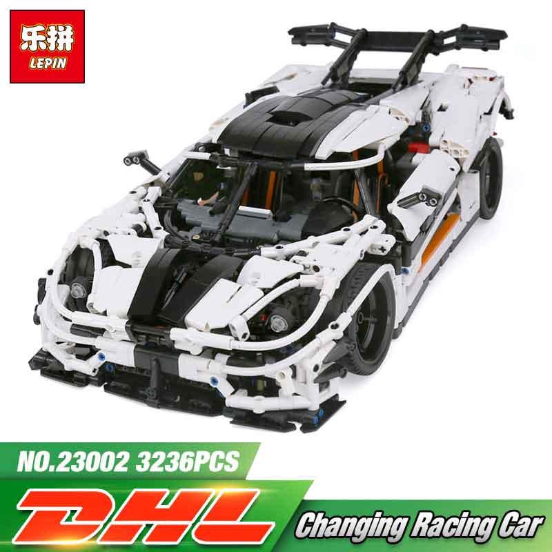 все цены на Lepin 23002 3236Pcs Technic Series The LegoINGly MOC-4789 Changing Racing Car Model Sets Building Blocks Bricks Toys For Boys онлайн