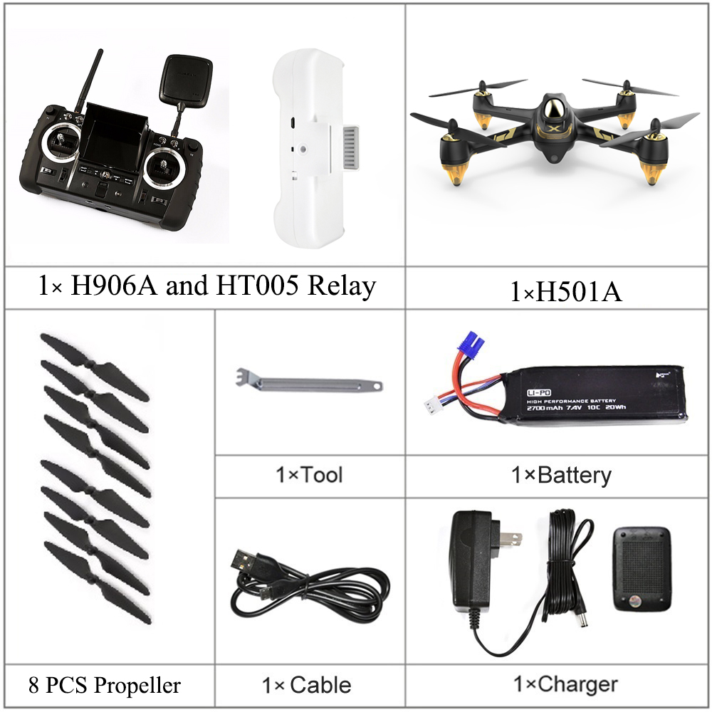 H501A+ Hubsan X4 H906A 1080P FPV Transmitter for RC Quadcopter H501S and H501A