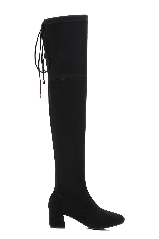 En Qzyerai Chaussures Ruban Polaire Retour Arrivée Over gris Serré Stretch Nouvelle genou L'automne Bottes the Pour Talons Cuir Femmes Noir wrZrxITYq
