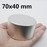1pcs N42 Neodymium magnet 70x40 mm gallium metal hot super strong round magnets 70*40 powerful permanent magnets