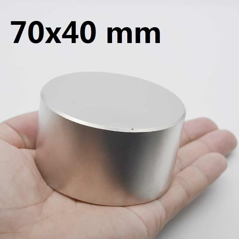 Imán de neodimio N42 de 70x40mm, potente imán permanente de metal, superfuerte, de gallium 70*40, 1 Uds.
