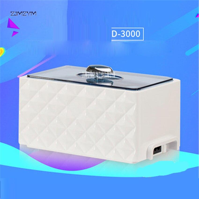 D-3000 nettoyeur de bain à ultrasons 0.45L paniers de réservoir bijoux montres anneau d'injecteur dentaire 35 W Mini nettoyeur à ultrasons 220 V/50Hz