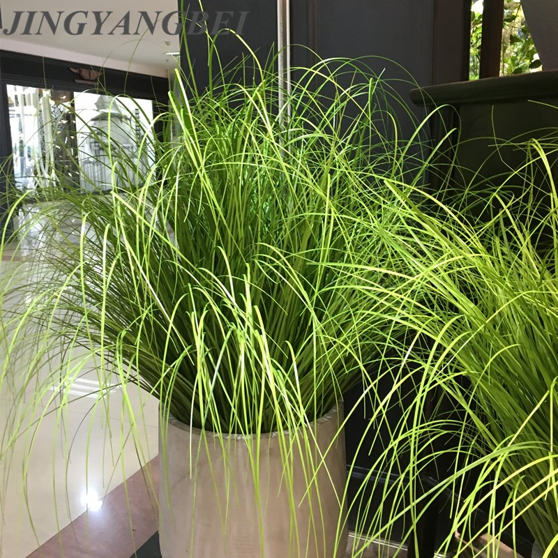 60cm Artificial Leave Simulation Leaf Onion Grass Silk Flower Decoration Flower Arranging Lawn Engineering Simulation Plants