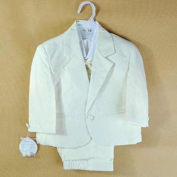 Джентльмен мальчик возраст 1 - 4 год белый / черный галстук-бабочку bebe костюм младенец с / с коротким рукавом одежды формальные костюмы T1324