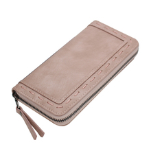 Fashion Brand purse women long  thread wallet female zipper wallet Clutch large capacity money purse bag