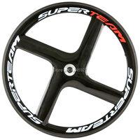 Superteam Carbon Wheels 4 Spoke Wheel Clincher Road Bike Track Bike Carbon Wheelset Four Spoke Wheel