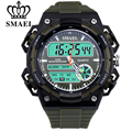SMAEL Men's Watch Sport LED Clock Quartz movement electronic watches Montre Homme Hombres Reloj Herrenuhr Homens Assista