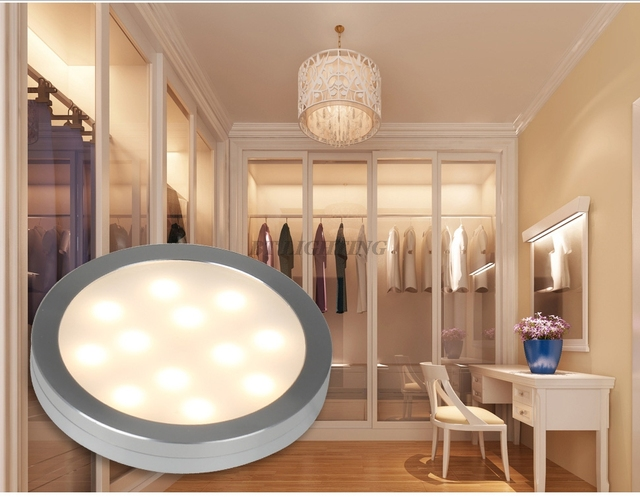 1W 2W 2.5W 3W Recessed LED Puck Light 3W 12V Ultra Thin Round LED Under