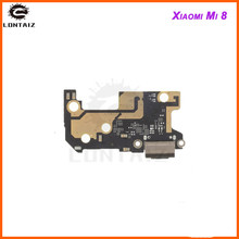 цена на for Xiaomi Mi 8 USB Charger Port Flex Cable USB Charging Dock Connector PCB Board Ribbon Flex Cable for Xiaomi Mi8 Repair Parts