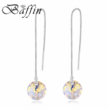 BAFFIN Long Chain Pendant Earrings For Womne Party Fashion Stud Earrings 925 Sterling Silver Jewelry Crystals From SWAROVSKI